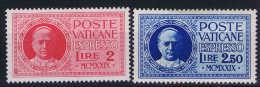 Vatican: Mi Nr 14 - 15  1929     MH/* Eilmarken - Vaticano