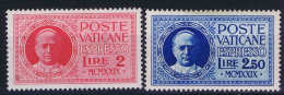 Vatican: Mi Nr 14 - 15  1929     MH/* Eilmarken