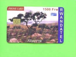 RWANDA - Chip Phonecard/Akagera National Park