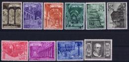 Vatican Mi Nr 149 - 158   1949 MNH/**,   25 + 40 Lire = MH/*  35 Lire Type C  13.25 * 14  Perfo