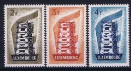 Luxembourg Cept 1956  Mi Nr 555 - 557  MH/*