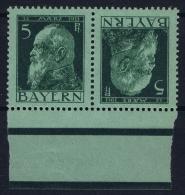 Bayern: Kehrdruck  Mi Nr 77   MNH/**  1911 Randstuck - Bayern