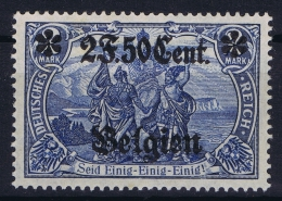 Landespost In Belgien:  Mi Nr 24 II B  MH/* 1916   25 : 17