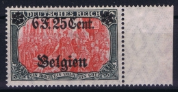 Landespost In Belgien:  Mi Nr 25 II B  MNH/** 1916   Randstuck