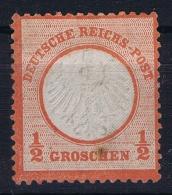 Deutsche Reich Mi Nr 3 Not Used (*) SG  1872 KB Spot - Ungebraucht