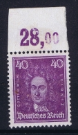 Deutsche Reich Mi Nr 395 MNH/** 1926  Randstuck Some Surface Damage