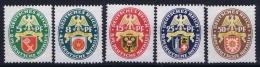 Deutsche Reich Mi Nr 430 - 434  Not Used (*) 1929