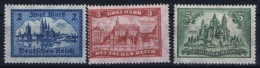 Deutsche Reich Mi Nr 365 - 367  Not Used (*) 1924  Part Set