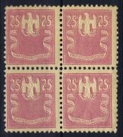 Deutsche Reich Krankenscheingebuhr, 4-block No Imprint Of Town Name