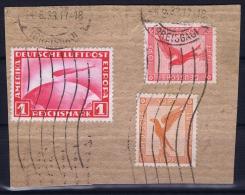 Deutsche Reich Mi Nr 455 + 379 + 381 On Fragment - Luftpost