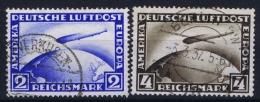 Deutsche Reich Mi Nr 423 - 424  Used Signed/ Signé/signiert  1928 - Luftpost