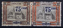 Deutsche Reich Saargebiet Mi Nr 79 A I + II MH/* - 1920-35 Saargebiet – Abstimmungsgebiet