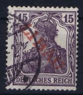 Deutsche Reich Libau 3 B B  Surcharge Red