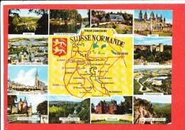 Suisse Normande Cp Multivues  111 Artaud - Maps