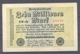 Zehn Millionen Mark  # 220140  Reichsbanknote - Altri
