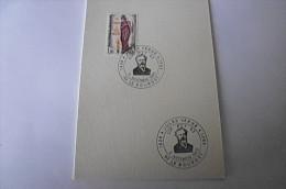 Carte Obl. Jules VERNE Le Bourget 11/11/1985 - Marcophilie (Lettres)