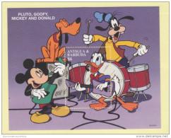 Antigua & Barbuda 6$ Pluto Goofy Mickey  Donald BAND - Disney