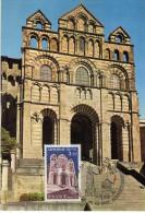 2951   Máxima   Francia  Cathedrale De Puy , Catedral  1980 - Cartas Máxima