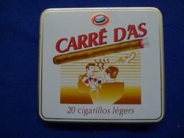 Boîte Métallique De Cigares Carré D'As, Vide - Empty Tobacco Boxes