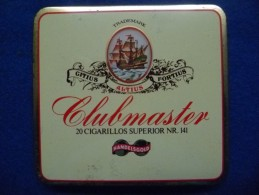 Boîte Métallique De Cigares Clubmaster, Vide - Empty Tobacco Boxes