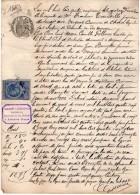 VP2597 - AUZANCES - Acte Entre Mrs TOURAILLE & BENEYTON De CHARD - Manuscripts
