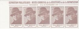 CARNET DE 20 VIGNETTES  -EXPO JEAN- MOULIN  VENISSIEUX 1979 - Commemorative Labels