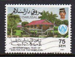 BRUNEI - 1987 75c SHELTER FOR THE HOMELESS SG419 FINE USED - Brunei (1984-...)