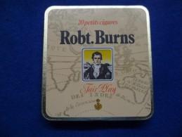 Boîte Métallique De Cigares Robt Burns, Vide - Boites à Tabac Vides