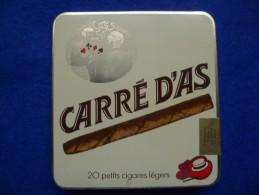 Boîte Métallique De Cigares Carré D´As, Vide - Boites à Tabac Vides