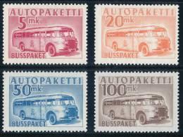 FINLAND/Finnland 1952-58 Post Bus M/52 Set Of 4v**MNH
