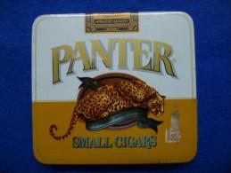 Boîte Métallique De Cigares Panter, Vide - Boites à Tabac Vides