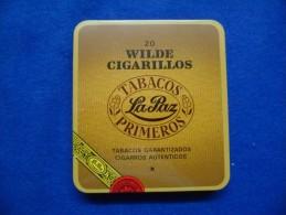 Boîte Métallique De Cigares La Paz, Vide - Contenitori Di Tabacco (vuoti)