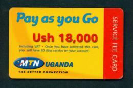 UGANDA - Remote Phonecard  As Scan