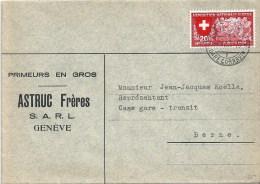 """Motiv Brief  """"Astruc, Primeurs En Gros, Genève""""           1939 - Lettres & Documents"""
