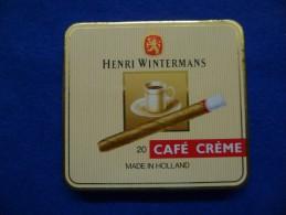 Boîte Métallique De Cigares Wintermans, Vide - Boites à Tabac Vides