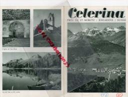 SUISSE - DEPLIANT TOURISTIQUE - CELERINA PRES SAINT MORITZ- ENGADINE- GOLF- TENNIS- PISCINE-ANNEES 40 - Switzerland