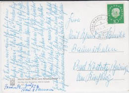 Bund Heuss Med Mi 303 PSt I Stempel Maria Laach ü Andernach Kte 1961 - [7] Federal Republic