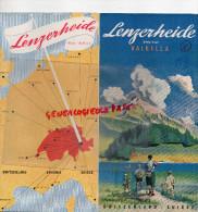 SUISSE - DEPLIANT TOURISTIQUE - LENZERHEIDE- VALBELLA - COL DU JULIER- TENNIS- ANNEES 40 - Switzerland