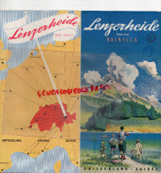 SUISSE - DEPLIANT TOURISTIQUE - LENZERHEIDE- VALBELLA - COL DU JULIER- TENNIS- ANNEES 40 - Suisse