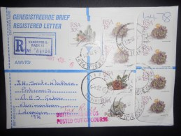 Afrique Du Sud Lettre Recommande De Vanderbijl 1991 , Joli Affranchissement - Afrique Du Sud (1961-...)