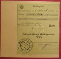 2500 Baden 2 - Zahlscheinabschnitt (Empfangschein) 1914 - Poststempel - Freistempel