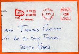 13 MIRAMAS  CREDIT AGRICOLE  LE BON SENS   1985 Devant De Lettre N° EMA 3110 - Freistempel