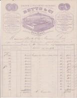 FACTURE - BETTS ET C° -USINE A  FLOIRAC -33- ANNEE 1870 - COULEUR VIOLET - 1800 – 1899