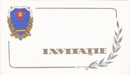 Romania - Brasov - Invitatie La Aniversarea De 20 Ani De La Infiintarea Militiei - Other