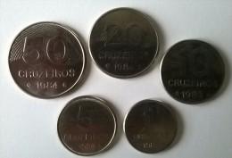 Brésil - 1, 5, 10, 20 Et 50 Cruzeiros - 1982-1984 - Superbe - - Brazil