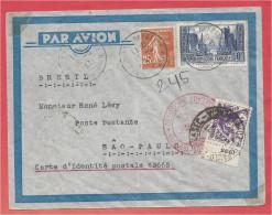 Lettre De MULHOUSE - ALSACE ( France ) Pour SAO PAULO ( Brésil ) - Zeppelin - Deutsche Luftpost Europa Südamerika - Zeppelins