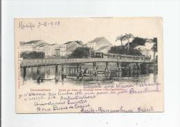PERNAMBUCO 17 PONTE DO TRAM DO CAXAUGA SOBRE O RIO CAPIRABO 1906 - Brazil
