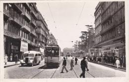 CPSM Animée (83) TOULON Boulevard De Strasbourg Tramway Autobus Etoile Transport Locomotion - Toulon