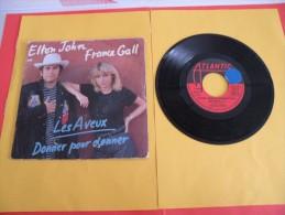 Elton John & France Gall, Les Aveux Donner Pour Donner - 1980 - Voir Photos,disque Vinyle - 2 € Le Vinyle 45 T - Vinyl-Schallplatten