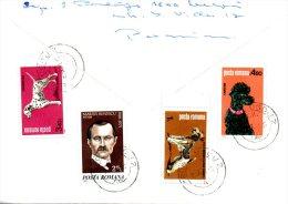 ROUMANIE. N°3315 & 3318-9 De 1981 Sur Enveloppe Ayant Circulé. Chiens. - Hunde